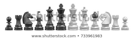 Negro ajedrez mesa de madera 3d negocios Foto stock © limbi007