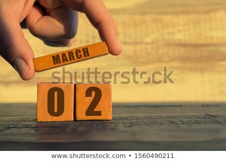Cubes calendar 2nd March Stock photo © Oakozhan