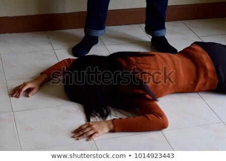 Rapina scena vittima criminali illustrazione muro Foto d'archivio © colematt