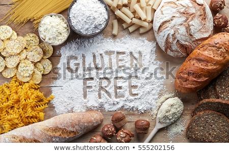 Zdrowych ryżu mąka szary tle Zdjęcia stock © furmanphoto