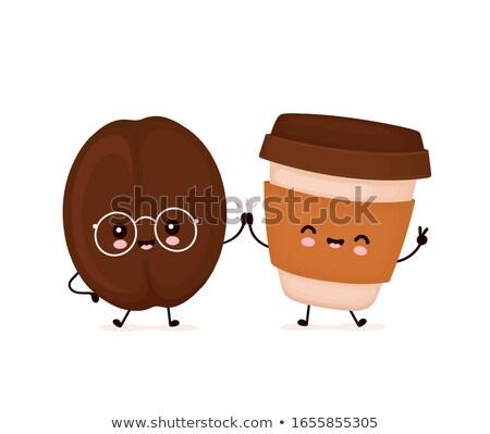Kawy cartoon ikona ilustracja eps 10 Zdjęcia stock © netkov1