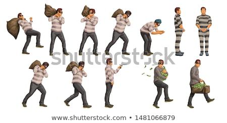 vector set of thief Stock photo © olllikeballoon