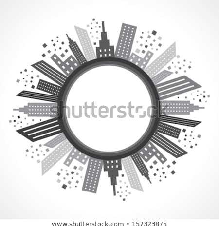Skyscraper of Rounded Shape, City Isolated Icon Stock photo © robuart
