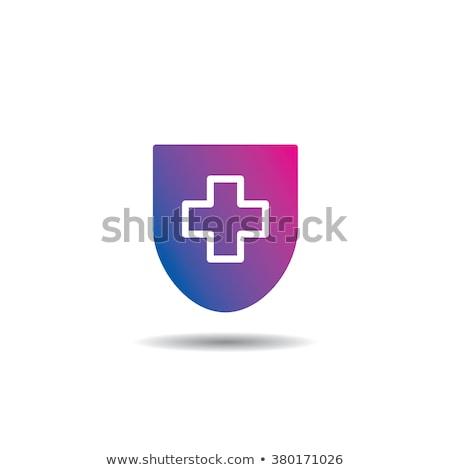 schild · Rood · uitroepteken · brand · gezondheid · teken - stockfoto © kyryloff