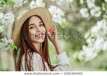 Portrait of young  woman with radiant clean outdoor Stock photo © lightpoet