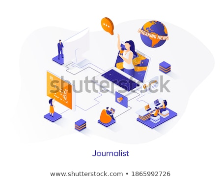 News concept - modern colorful isometric vector illustration Stock photo © Decorwithme