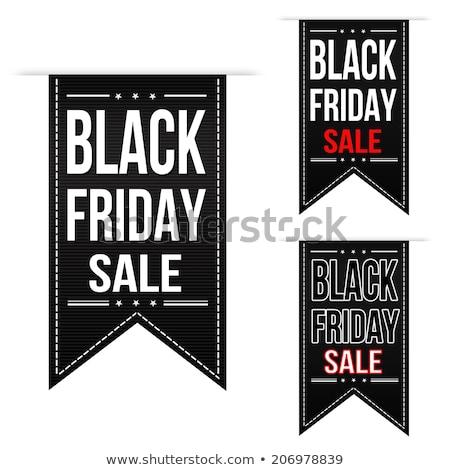 Black friday promóciós ikon szett matrica vétel csomag Stock fotó © robuart