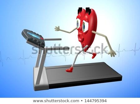 tredmolen · 3d · render · robot · man · fitness · opleiding - stockfoto © alexmas