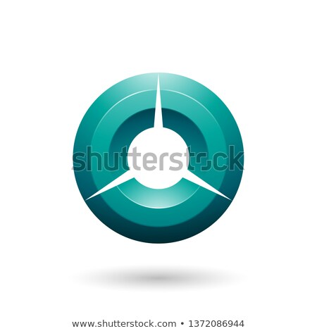 Persian Green Glossy Shaded Circle Vector Illustration Stock photo © cidepix
