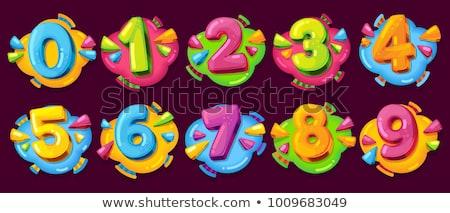 cartoon · nummers · cijfers · ingesteld · glimlacht · gelukkig - stockfoto © izakowski