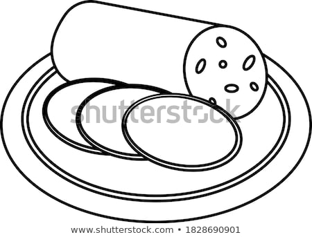 salami ham meat and more on the plate stock photo © kayros