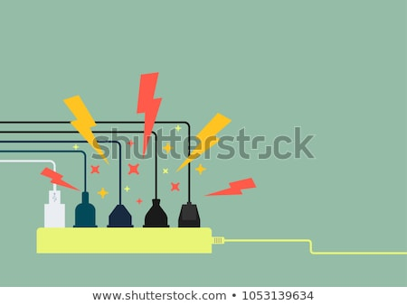 Plug in full power outlet, overload charger  - short circuit Stock photo © Winner
