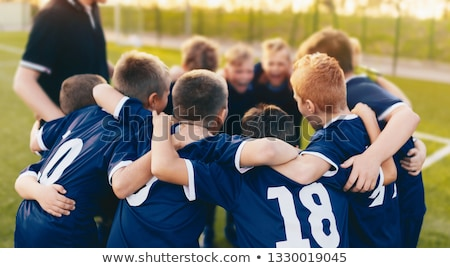 Boys Soccer Team in Huddle. Kids Sport Football Team Gathering Stock photo © matimix