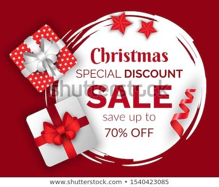 prémium · minőség · karácsony · vásár · 50 · árengedmény - stock fotó © robuart