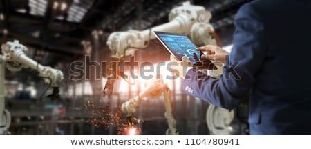 Digital fabrico robótico brasão conjunto dois Foto stock © solarseven