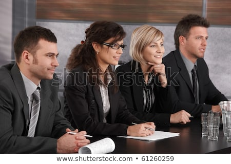 Businesspeople Taking Interview Of Woman Stock photo © AndreyPopov