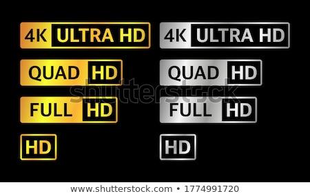 ultra hd high definition resolution technology 4k uhd concept stock photo © djmilic