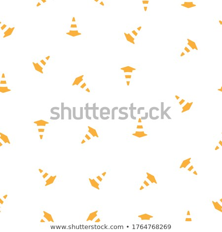 Cone Barrier Construction sports Icon. Vector Illustration isolated on white background. Stock photo © kyryloff