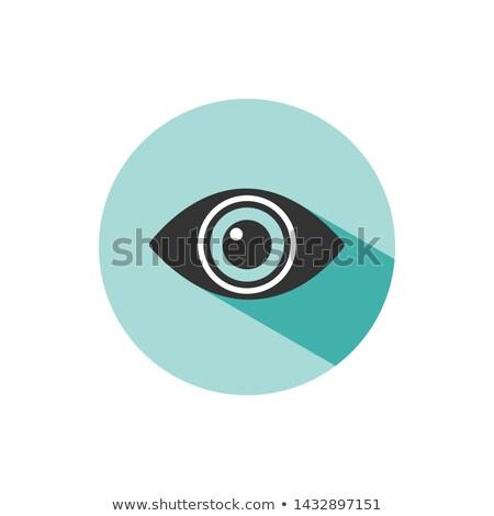 Cuerpo visión ojo icono sombra verde Foto stock © Imaagio