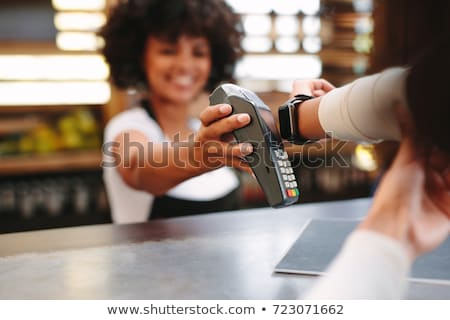 Using contactless payment in cafe Stock photo © pressmaster