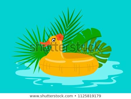 Vector zomervakantie illustratie zwembad tropische Stockfoto © articular