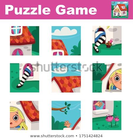 Meczu sztuk puzzle fantasy cartoon Zdjęcia stock © izakowski