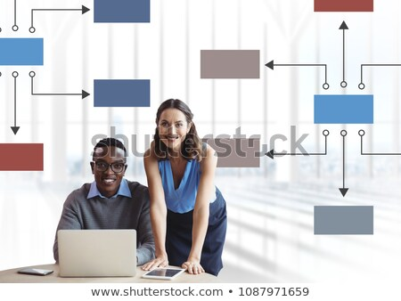 couple meeting with mind map and computer stock photo © wavebreak_media