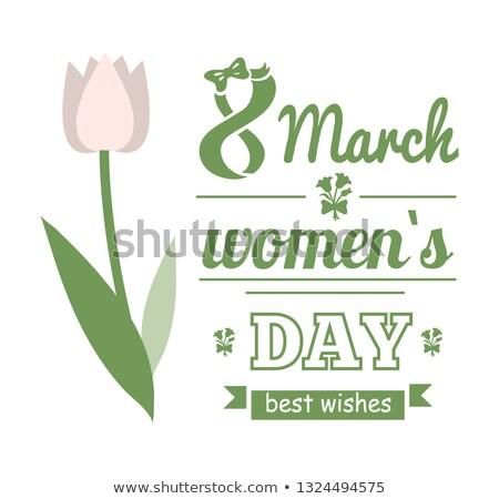 acht · wenskaart · ontwerp · vector · bloemen - stockfoto © robuart