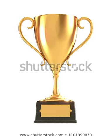 Golden Winning Trophy Cup Isolated Illustration Stock photo © robuart