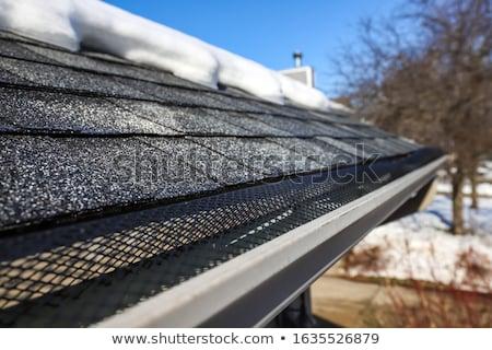 Csatorna jég kár tető hideg részlet Stock fotó © pancaketom