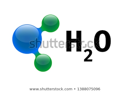 Chemistry model of water molecule H2O scientific elements. Integrated particles hydrogen and oxygen  Stock photo © kyryloff
