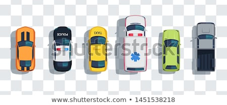 Realistic police cars vector illustration Stock photo © YuriSchmidt