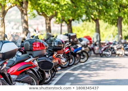 Row of Italian mopeds parking Stock photo © lichtmeister