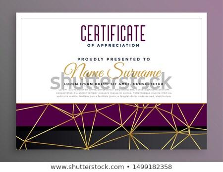 премия · сертификата · признательность · шаблон · дизайна - Сток-фото © sarts