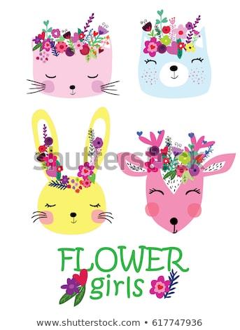 Szett aranyos állatok csinos macska vektor eps Stock fotó © rwgusev