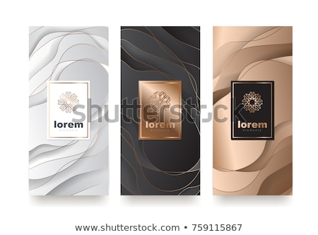 black and gold marble texture with ornamental golden frame Stock photo © SArts