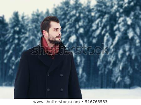 Moço olhando ao ar livre temporada de inverno homem Foto stock © Lopolo
