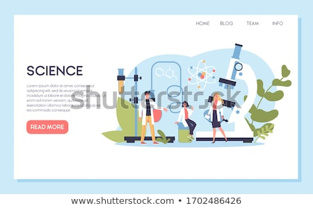 Scientific Molecule Structure Landing Page Vector Stock photo © pikepicture