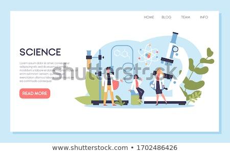 biotecnologia · aterrissagem · página · cientistas · olhando · dna - foto stock © pikepicture