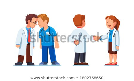 Medical Workers on Meeting Doc and Nurse Characters Stock photo © robuart