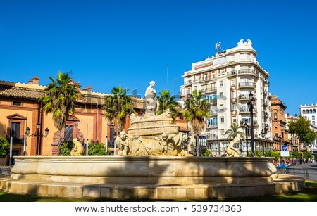 фонтан Испания аллегория город случай здании Сток-фото © borisb17
