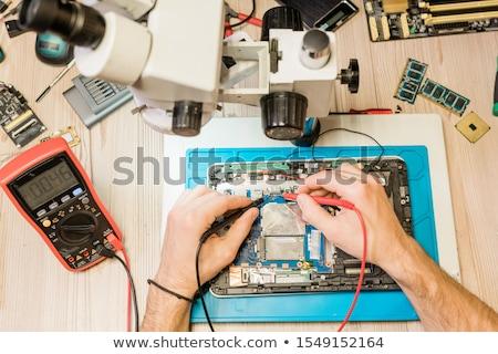 Eller profesyonel çalışmak küçük küçücük Stok fotoğraf © pressmaster