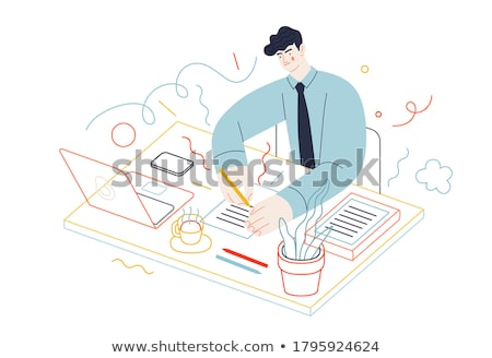 Documents filling vector concept metaphor. Stock photo © RAStudio