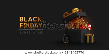 Stock photo: Black Friday Sale, Banner with Presents in Boxes