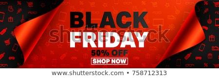 Black friday vásár papír szalag tekercs fekete Stock fotó © -TAlex-