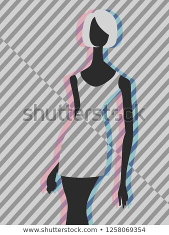 девушки моде манекен искусства иллюстрация Сток-фото © lenm