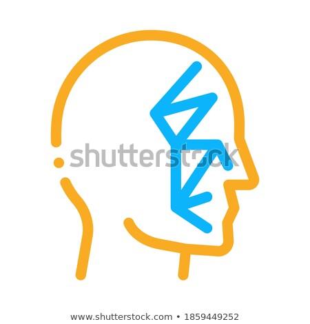 Gezicht scannen punten punt icon vector Stockfoto © pikepicture
