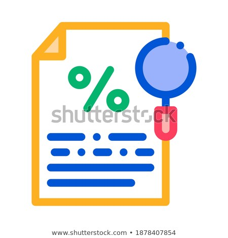 Study of Interest Related Documentation Icon Vector Outline Illustration Stock photo © pikepicture