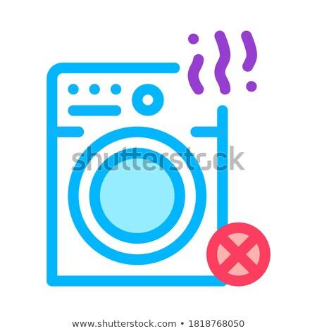 Törött alátét ikon vektor skicc illusztráció Stock fotó © pikepicture