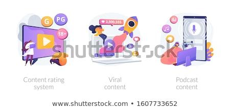 Contenido vector metáforas medios de comunicación social película Foto stock © RAStudio